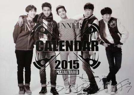 WINNER PIZZA ETANG 2015 CALENDAR